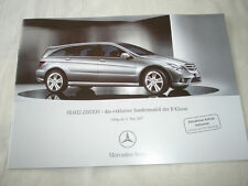Mercedes R Class Travel Edition brochure May 2007 German text