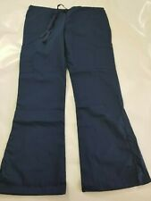 Fashion Seal Healthcare Women's Drawstring Cargo Scrub Pants M Navy Blue New