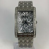 Caravelle New York Womens 44L161 Silver Crystal Dial Stainless Steel Wristwatch