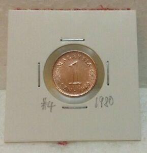 MALAYSIA 1 sen 1980 Parliament Series Coins  High Grade  #4
