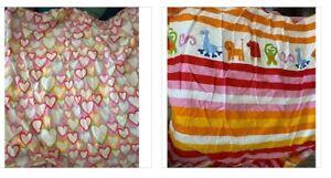 2 IKEA VITAMINER HJARTA & Barnsling Rand  DUVET COVER Twin Girls Bedding Blanket