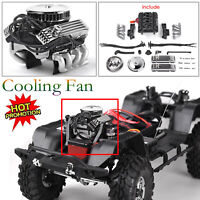 GRC V8 Simulate Engine Motor Cooling Fan F82 for 1/10 RC Crawle TRX4 SCX10 RC4WD