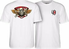 Powell Peralta 40Th Anniversary Winged Ripper Skateboard Shirt White Large