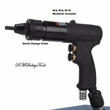 Riv Nut Gun Pneumatic Threaded Rivet quick change Metric Riv Nut  M-6, M-8, M-10