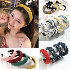 USA Seller Women Hairband Hair Band Wide Bow Knot Headband Hair Hoop Accessories