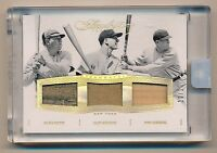 2016 Flawless BABE RUTH * LOU GEHRIG * MEUSEL * Game Used Jersey Stiching * #/10
