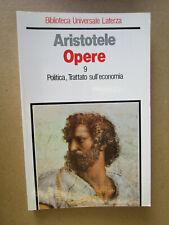 Aristotele - OPERE - Vol. 9 - Politica, Trattato sull'economia - Laterza 1989