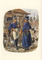 AK: Hessen-Kassel, Postillione, 1820 mit Briefmarken + Tagesstempel