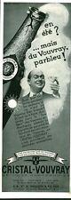 Publicitéancienne vin cristal VOUVRAY 1933