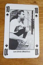 LARS ULRICH METALLICA SINGLE CARD KERRANG THE KING OF METAL 1990's