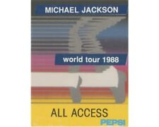 MICHAEL JACKSON : BACKSTAGE PASS - WORLD TOUR 1988 ALL ACCESS BLUE - UNLAMINATED