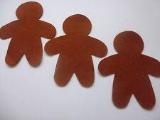 felt gingerbread man x 10