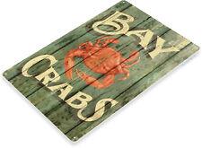 TIN SIGN Crabs Crab Shack Seafood Marina Food Metal Sign Decor B296