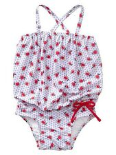 GAP Baby / Toddler Girl 12-18 Months Blue Floral Tulip One-Piece Bathing Suit