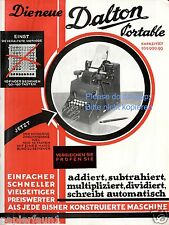 Rechenmaschine Dalton Farbreklame 1927 Rechner Calculator ad Additionsmaschine