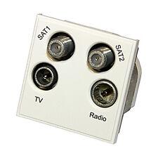 Triax Modular Blende Satellite Quad TV/ Radio/ Sat1/SAT2 Einsatz Modul weiß