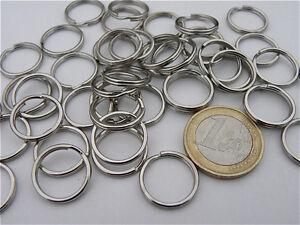 50 Anello Doppio Ø16 Ø13 Acciaio Inox Anelli Per Collare di Fissaggio