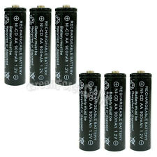 6 x AA 900mAh Ni-Cd NICD Ni-Cad 1.2V rechargeable battery cell/RC Black US Stock