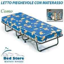 LETTINO ECONOMICO PIEGHEVOLE ORTOPEDICO CON 15 DOGHE CON MATERASSO H10 - BRANDA