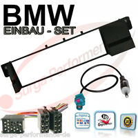 Auto Radio Blende Einbaurahmen Set Fakra Adapter BMW 3er E46 DIN