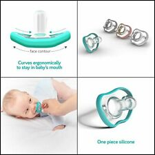 Nanobebe Pacifiers 0-3 Month - Orthodontic, Curves Comfortably Safe