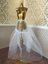 White Flouncy Petticoat Net Underskirt Barbie Doll Disney Princess For Ballgown