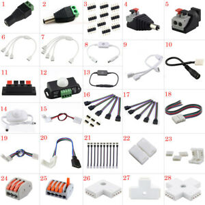 LED Accessories 4pin DC Connector Adapter Extension Cables For LED Strip Light