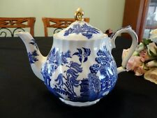 Vintage Sadler Blue Willow Pattern Teapot Made in England