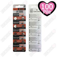 100 BATTERIE ALCALINE LR1120 MAXELL 1,5v  PREZZO STOCK IMPERDIBILE