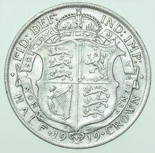 More details for 1919 george v halfcrown, british silver coin gvf/aef