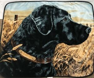 Throw Blanket Northwest Jeff Renneb Hunting Dog Black Lab SUPER PLUSH Farmhouse