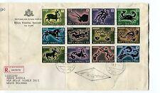 1979 FDC San Marino Segni dello Zodiaco Registered RACCOMANDATA First Day Cover