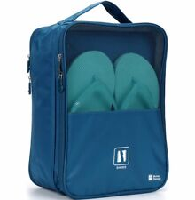 Stylish Convenient Travel Shoe Bag Navy Blue Protects Clothes From Dirt & Smell