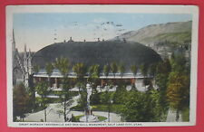 VTG GREAT MORMON TABERNACLE AND SEA-GULL MONUMENT POSTCARD-SALT LAKE CITY UTAH
