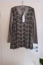 BARBARA SPEER Shirt Tunika 48 50 52 (EG) NEU grau schwarz A-Form  LAGENLOOK