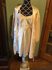Vintage Dentelle Stunning Nightgown And Robe Sissy Lingerie Size M