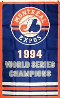 Montreal Expos Championship MLB Flag 3x5 ft Sports Vertical Banner Man-Cave New