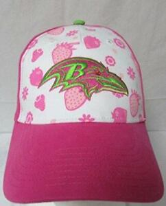 Baltimore Ravens Girls Adjustable Strawberry Smoothie Baseball Cap/Hat E1 371