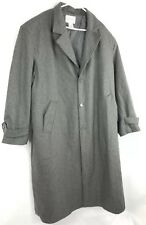 Kings Court Mens 3XL Gray Wool Blend Lined Long Button Down Coat Jacket