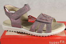 Superfit Girl Sandals Grey/Purple Metallic New