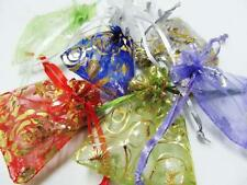 50pc Mixed Organza Jewelry Packing Pouch Wedding Favor Gift Bags 7x9cm 3X4 In AB