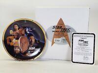 1993 Enesco Star Trek Next Generation The Crew Limited Edition Porcelain Plate
