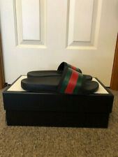 [US 10, UK 9] Gucci Men's Pinstriped Slides (Authentic) SS17