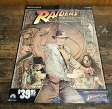 1984 Indiana Jones Raiders of the Lost Ark Videocassette Promotional Poster