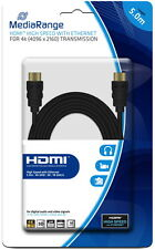 Mediarange HDMI Kabel High Speed Ethernet Gold 4K ULTRA HD 3D 5 m schwarz