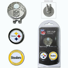 Pittsburgh Steelers NFL Team Golf Cap Clip with 2 Magnetic Enamel Ball Markers