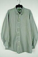 J Crew Men's Vintage Striped Long Sleeve Dress Shirt 17.5/34