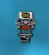 New England Patriots Super Bowl XXXVIII 38 Champions Large Dangle Football Pin