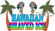 Hawaiian Shaved Ice Decal (Choose Your Size) Concession Food Truck Sign Sticker
