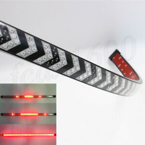 "Universal 23.6"" Red LED SUV Car Tail Light Strip Dynamic Indicator Brake Strobe"
